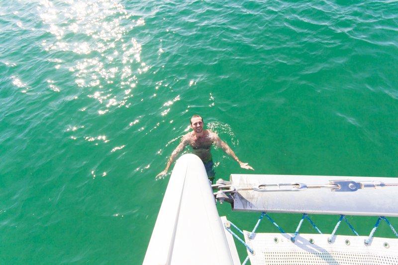 Chris in the Playa Blanca Bay