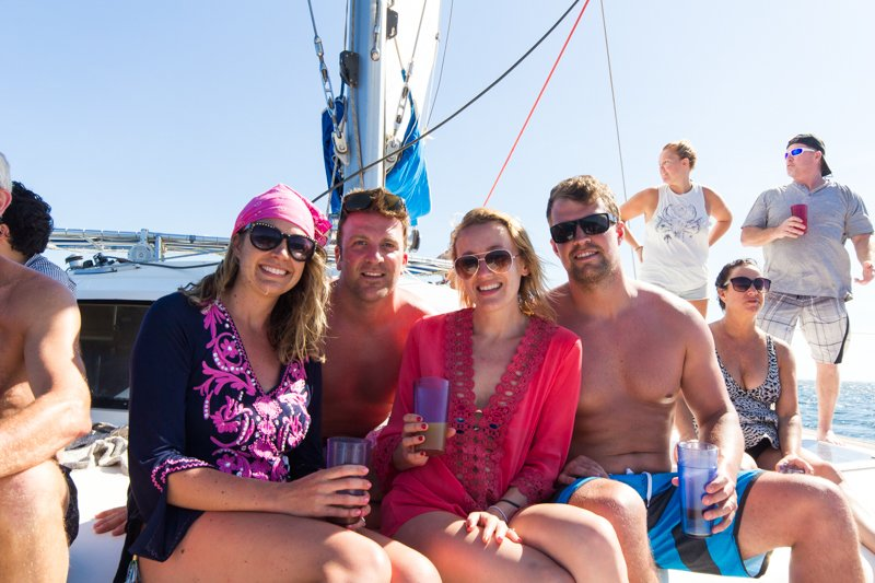 Friends on the Catamaran
