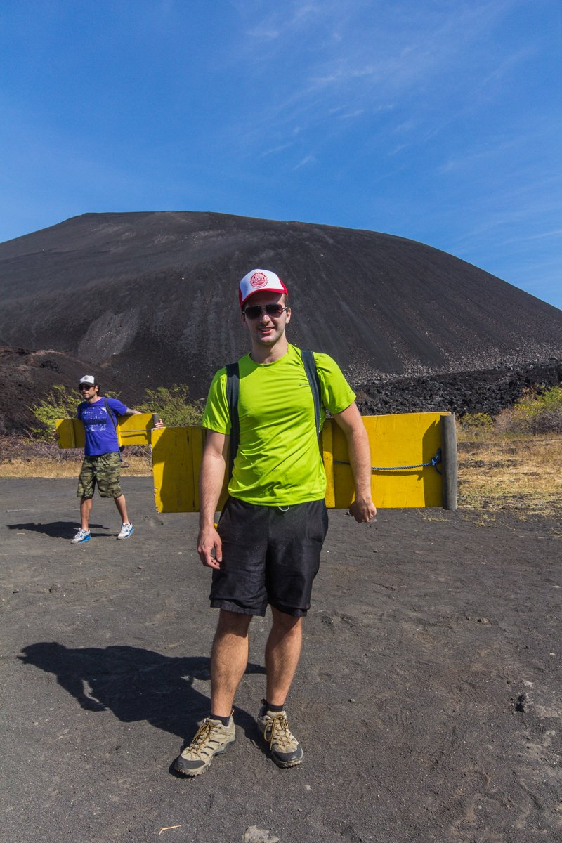 Chris at the bottom of Cerro Negro