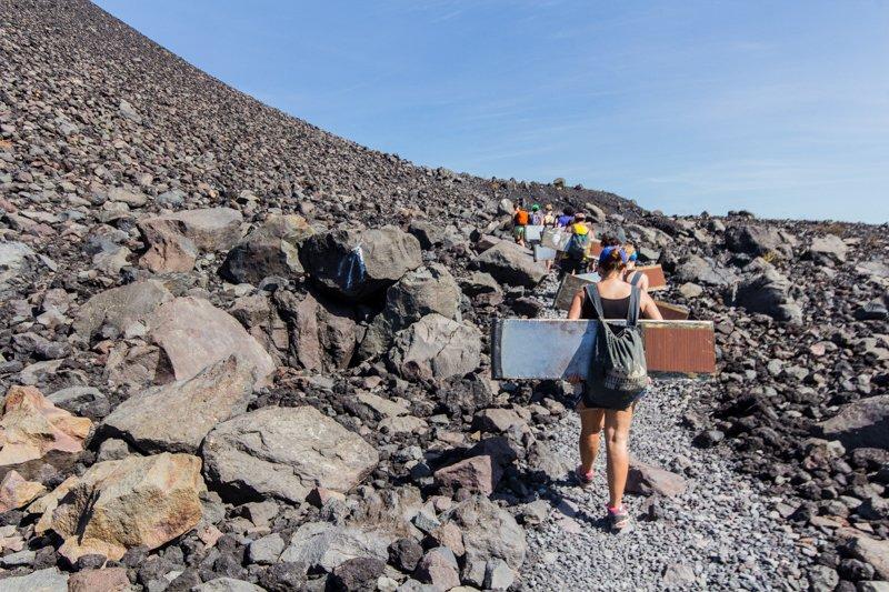 Climbing Cerro Negro