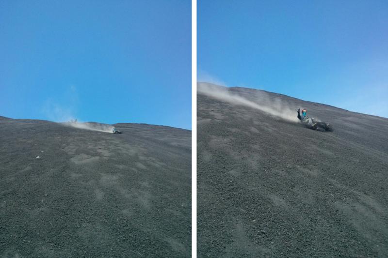 Volcano Boarding Down Cerro Negro