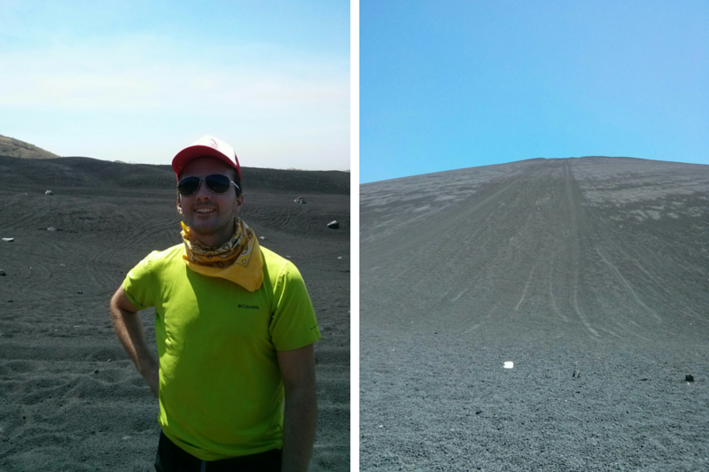 Bottom of the Cerro Negro Volcano