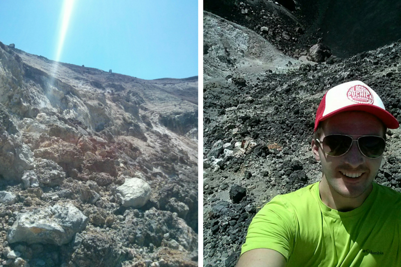 Chris in the Cerro Negro Crater
