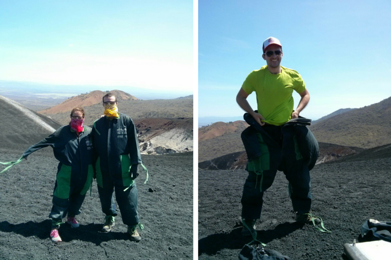 Chris and Virginie at the top of Cerro Negro