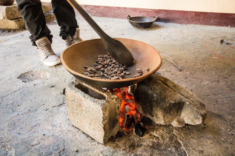 Cocoa Beans Roasting