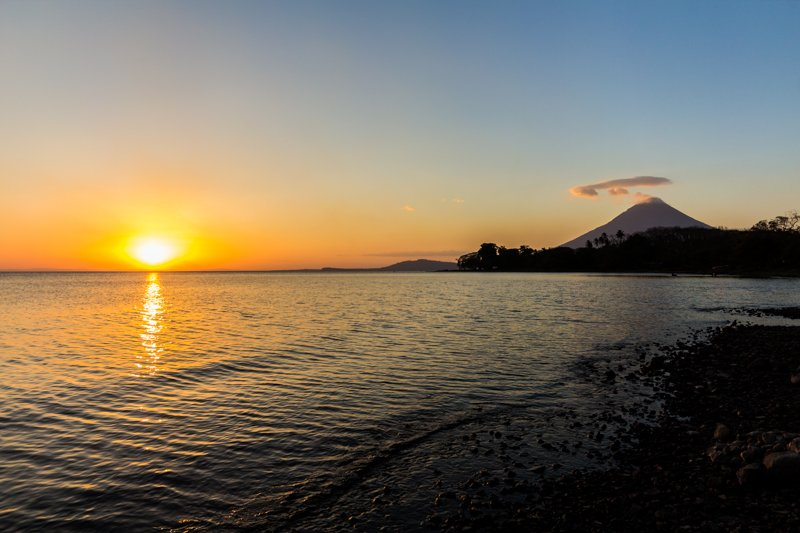Sunset on Ometepe